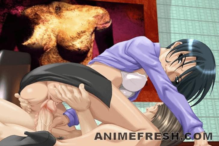 Scharfes Anime Girl beim Schwanzritt im gratis Sexvideo